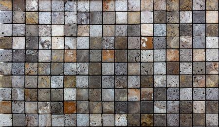 Travertine tile ceramic, mosaic square design seamless texture background Foto de archivo