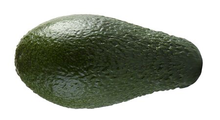 Green avocado closeup on a white background 版權商用圖片