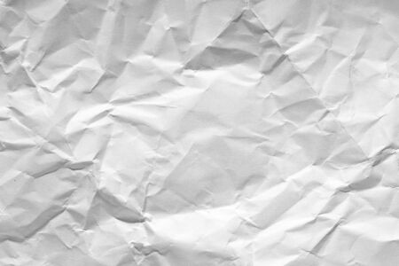 White crumpled paper texture. Natural background, design element.