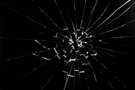 Crepe rotonde bianche in vetro su sfondo nero. Archivio Fotografico