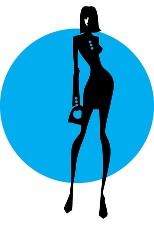 silhouette of a business woman