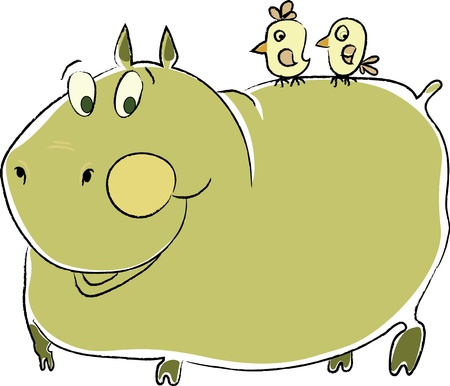 friendly hippo photo