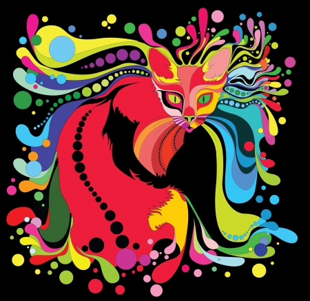 psychedelic cat