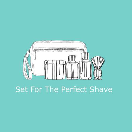 shaving: shaving kit: cream, lotion,  shaving gel Illustration