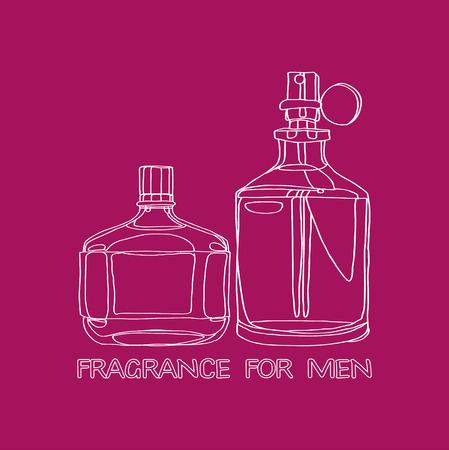 toner: Set Fragrance for Men Illustration