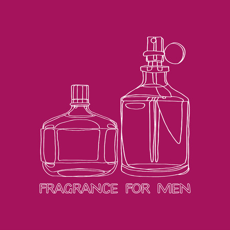 Set Fragrance for Men Stock Illustratie