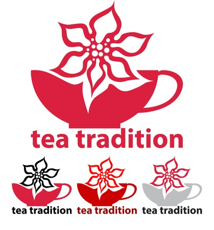 fragrant: Tea tradition Brew tea with fragrant flowers.  Illustration