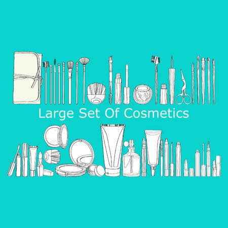 cosmeticos: gran conjunto de cosm�ticos