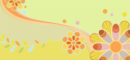 cute kids floral pattern. Vector