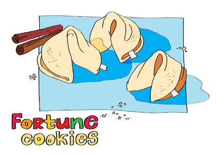 fortune cookie: cookie fortune Illustration