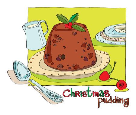 plum pudding: Christmas pudding