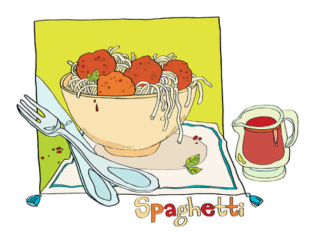 spaghetti bolognese: spaghetti