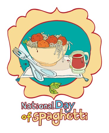 national day of spaghetti Vector