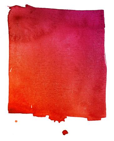 frutilla: acuarela de fondo rojo