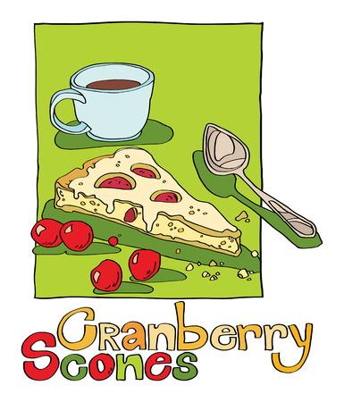 scone: cranberry scones
