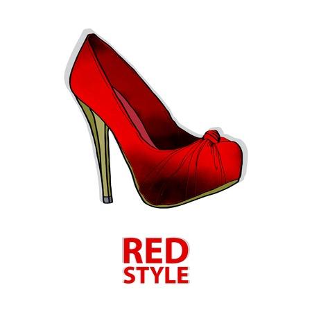 scarlet: scarlet shoe
