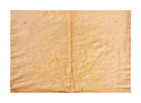 antiquary: Aged paper folded in half  background