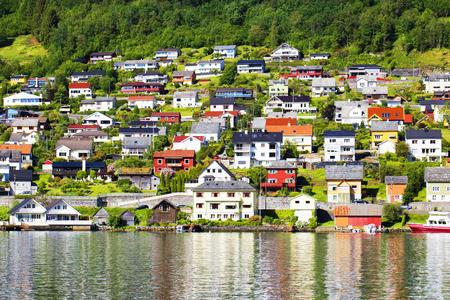 hardanger: Norway bench with view. Hardanger Fiord. Norway.