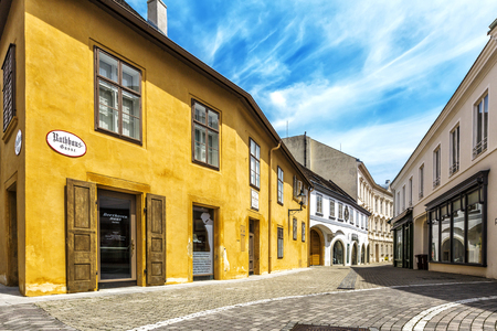 BADEN, AUSTRIA - JUNE 26, 2016: Beethoven House Baden (Rathausgasse 10) is a museum of Ludwig van Beethoven in Baden bei Wein. The composer spent 15 years his summer in Baden. Editorial