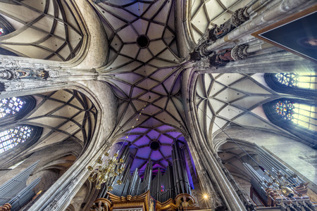 Interior St. Stephens Cathedral (Stephansdom) is the mother church of the Roman Catholic Archdiocese of Vienna.