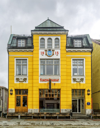 Verdensteatret Kino (World Theater Cinema) in Tromso, Norway. Was designed by P. Amundsen and opened in 1916 with 349 seats. Was given Listed Building status in 1994. Redakční