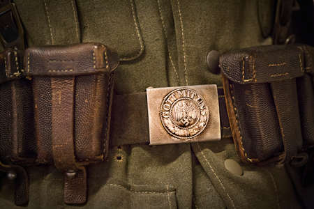 German nazi army buckle and strap from the second world war.