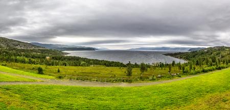 Scandinavian northern nature. Beautiful view on Jiepmaluokta  bay in the municipality of Alta in Norway. In Sami language the name Jiepmaluokta is bay of seals Reklamní fotografie