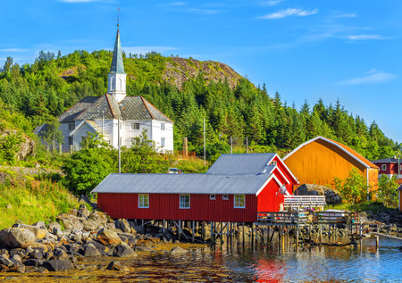 Moskenes Church is a parish church in the municipality of Moskenes  just north of Sorvagen in Nordland county. Moskenes is a fishing village in Lofoten Islands. Norway.