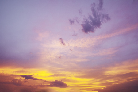 Fantasy softness cloud on sky in sunset time.