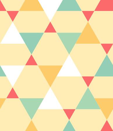 カラフルな三角形のシームレス パターン
