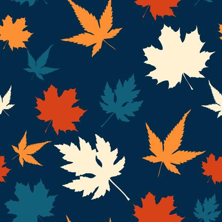 Seamless maple leaf pattern