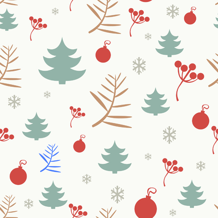 repeating background: Christmas seamless pattern background