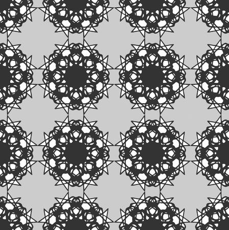 symmetry: black symmetry seamless pattern