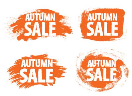 grunge banner: Autumn sale banner grunge painted