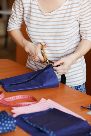 Young Woman Sewing With Sewing Machine At Home At Her Working Stock Photo Picture And Royalty Free Image Image 52519517