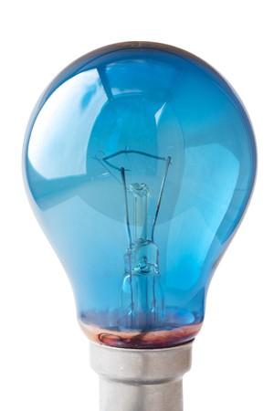 Blu lampadina Archivio Fotografico
