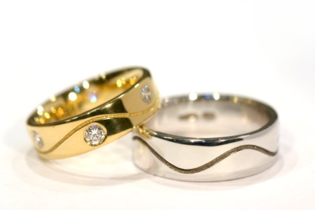 Diamond Gold and Silver Rings