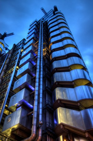 lloyds london: Lloyds building, London, England Stock Photo