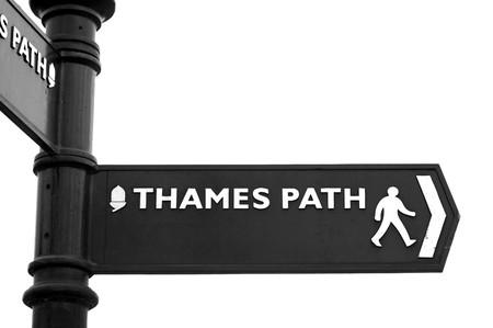 Thames Path segno Archivio Fotografico