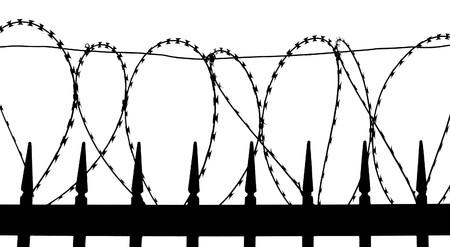 Razor filo metallico recinzione - silhouette
