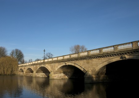 Serpentine Bridge, Hyde Park, London Stock Photo