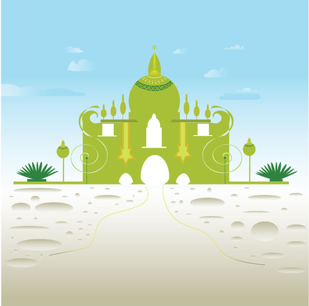 agra: Draw the dome green symbol vector pattern created.