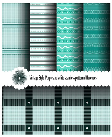 alternating: patterns with geometric patterns using alternating with white and green Stock Photo
