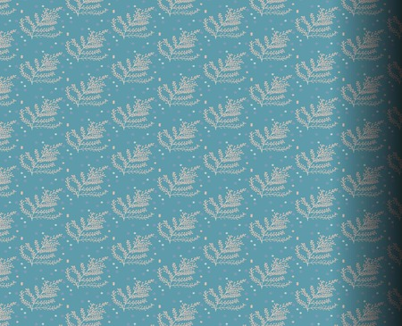 endlessly: patterns leaves Blue, patterned tiles, fabrics, wallpaper, paper. Which can be used endlessly.
