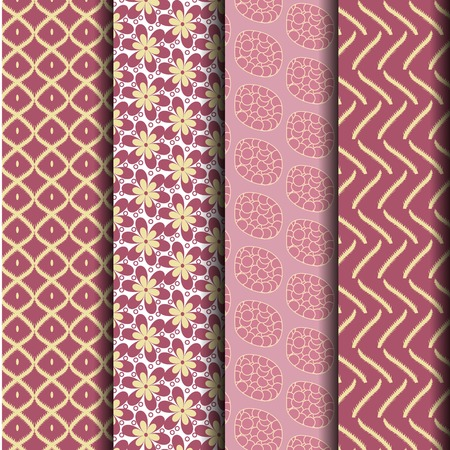 endlessly: set geometry pink pattern can be used endlessly