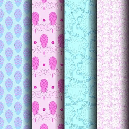 endlessly: sets Pastel patterned lines Which can be used endlessly.