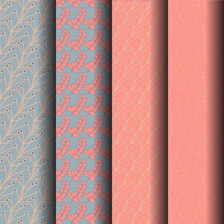 endlessly: sets Patterned blue and pink can be used endlessly. Stock Photo
