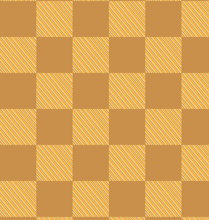 checked fabric: yellow brown checked fabric seamless pattern. computer generated abstract background