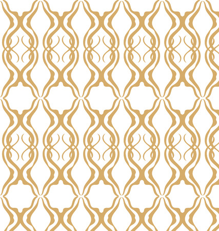 Vector seamless pattern. Modern stylish texture. Geometric striped ornament. Yellow and white linear