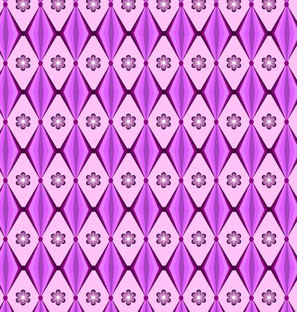 temperate: set Seamless patterns geometric diamond purple.Vector